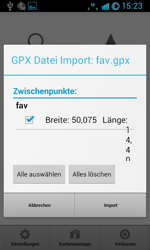 MapFactor Navigator – GPX Datei Import