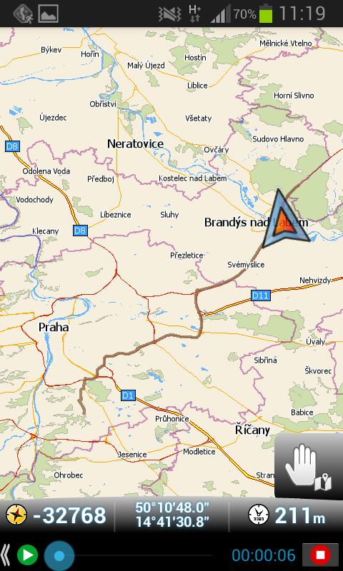 MapFactor Navigator – Ukaž uloženou trasu na mapě
