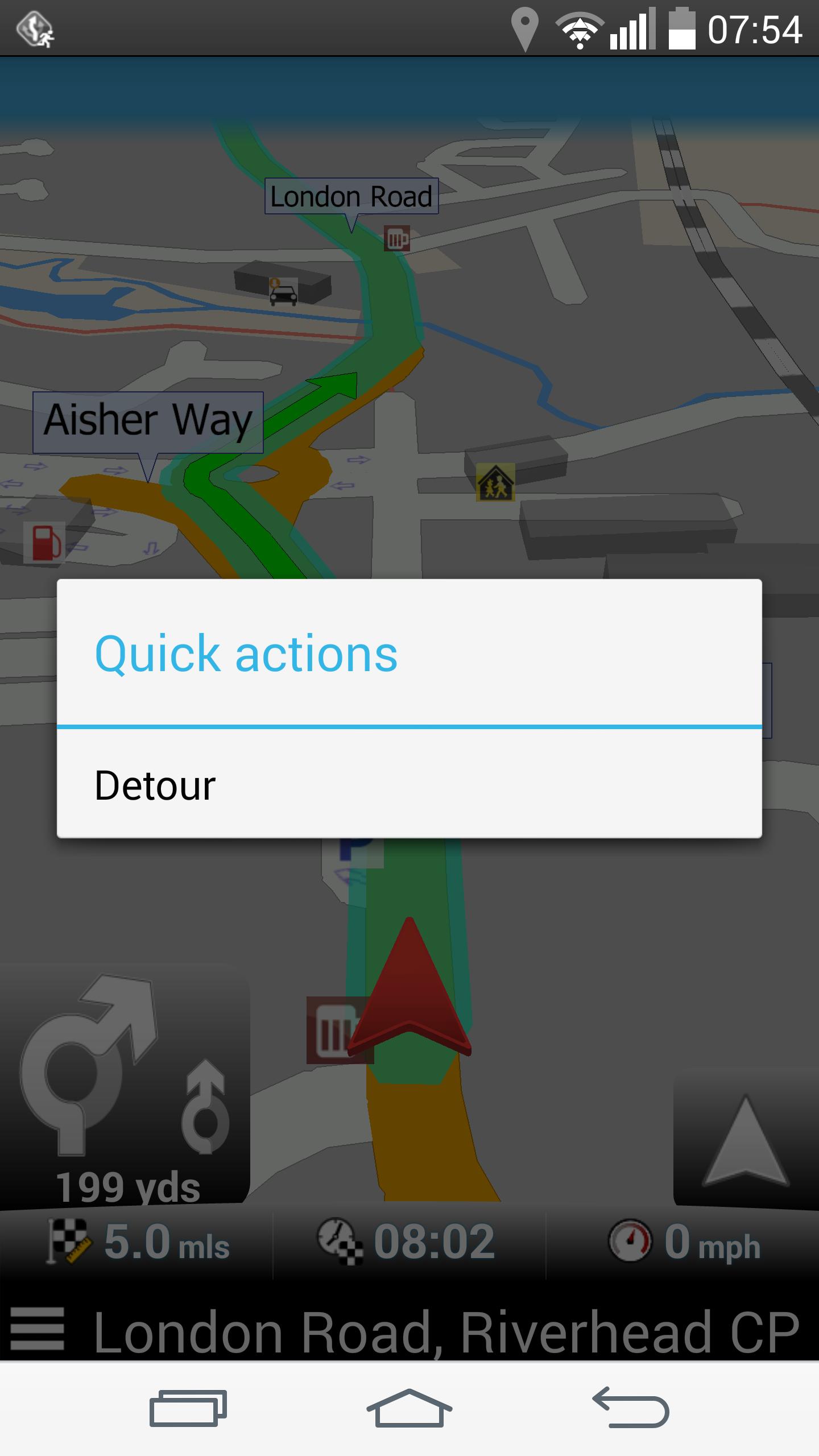 Navigator - Quick actions - Detour