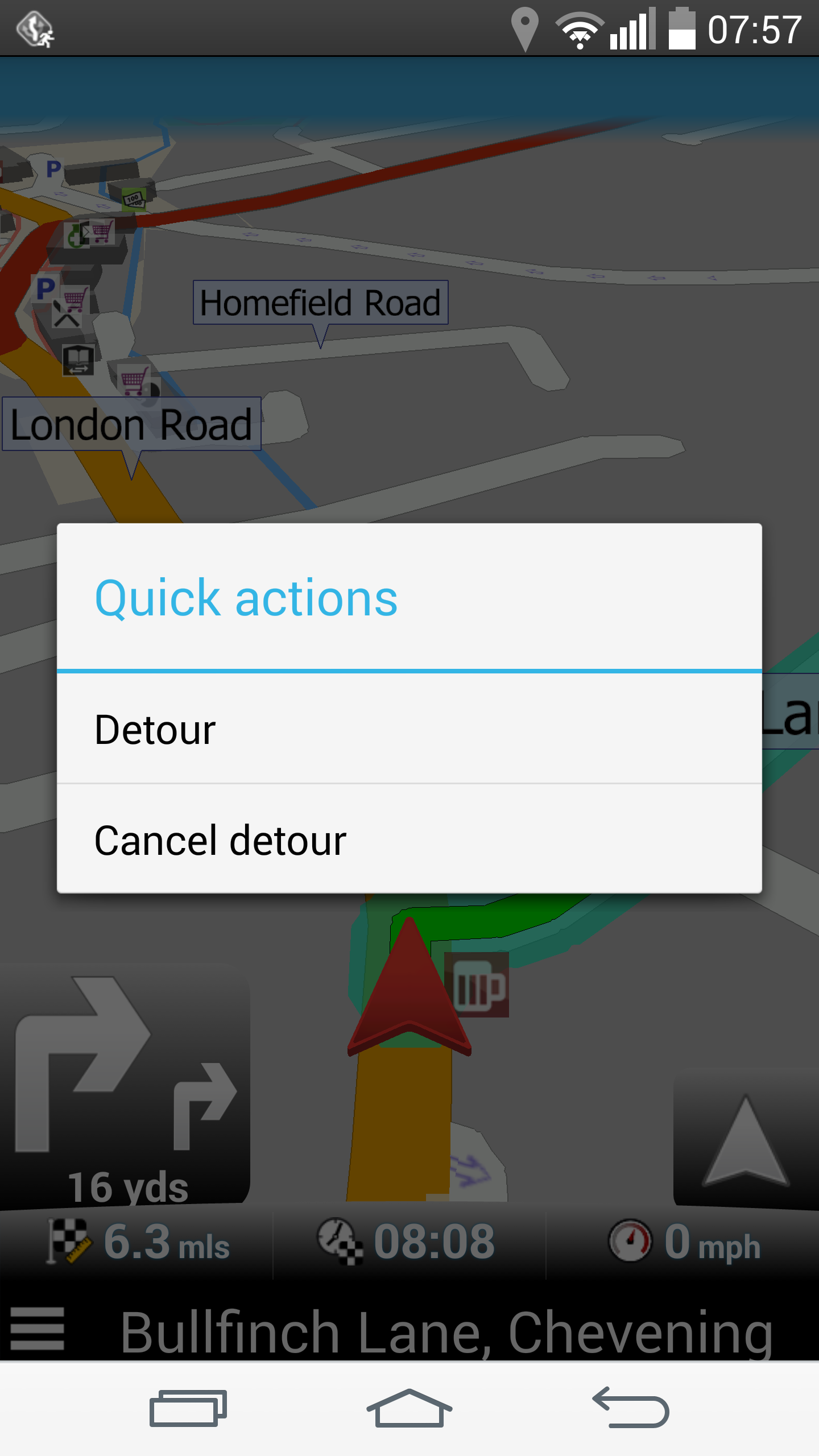 Navigator - Detour cancel
