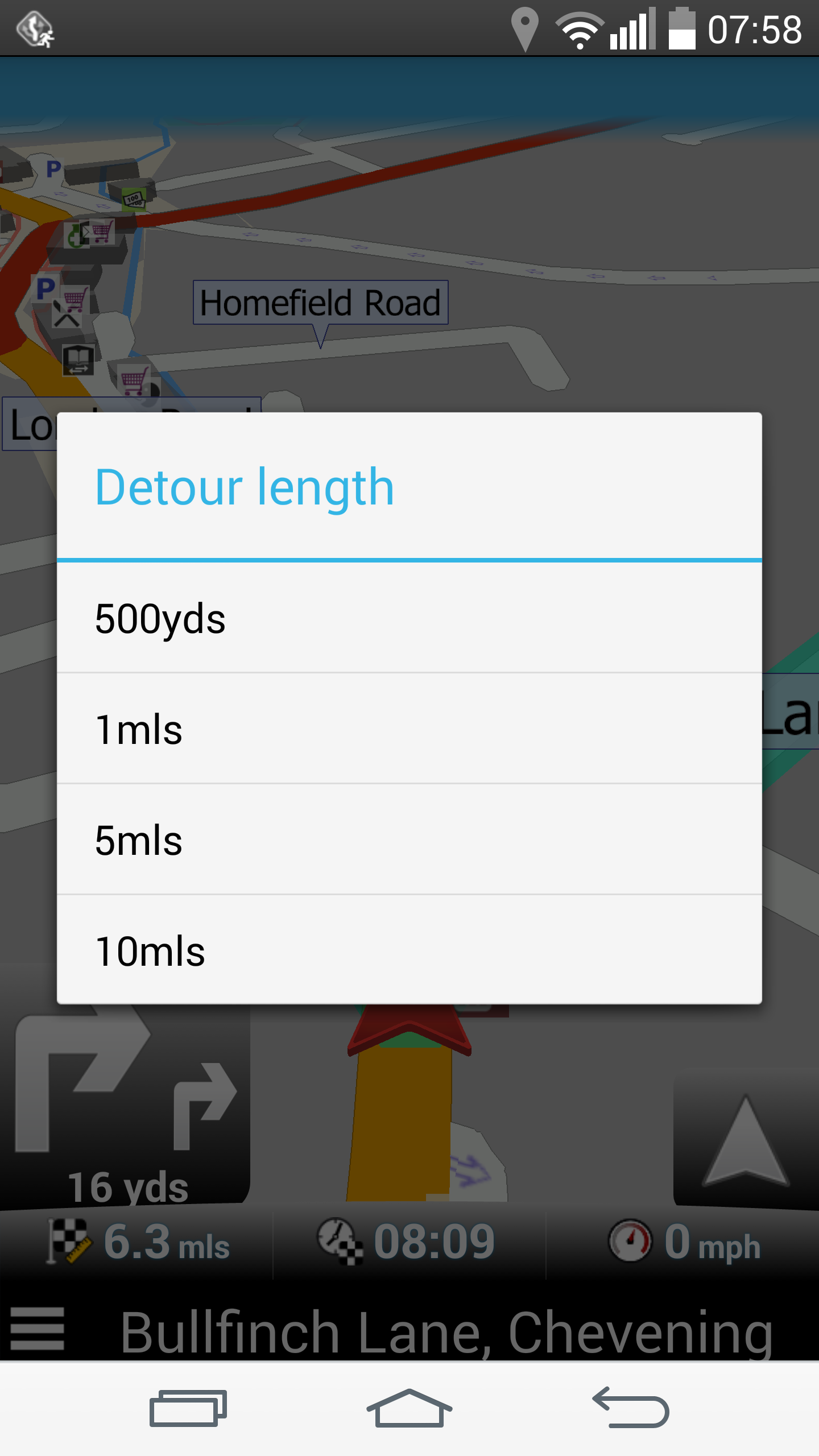 Navigator - Detour length