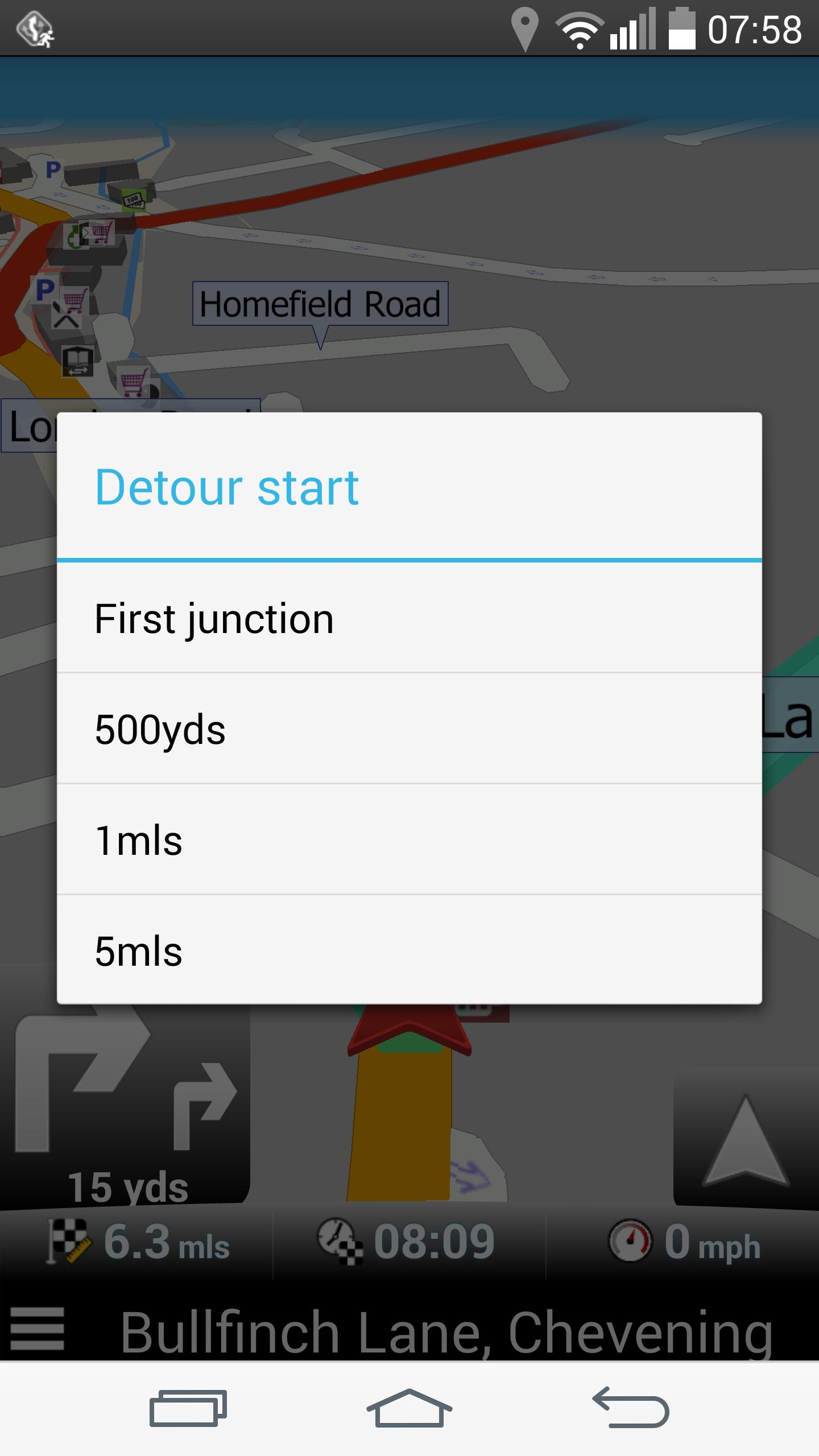 Navigator - Detour start